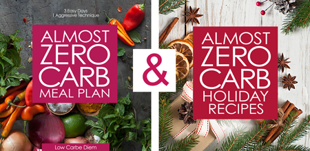 almost zero carb meal plan and holiday recipes ebook